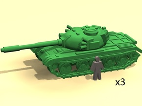 6mm Tank 1950-60s in Smoothest Fine Detail Plastic