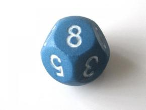 D10 5-fold Sphere Dice in Blue Processed Versatile Plastic