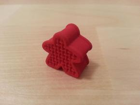 Woven Meeple in Red Processed Versatile Plastic