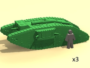 6mm WW1 Mk.IV Female tank (Britain) in Smoothest Fine Detail Plastic