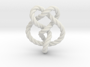 Miller institute knot (Rope) in White Strong & Flexible: Extra Small
