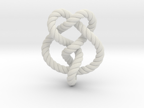 Miller institute knot (Rope with detail) in White Natural Versatile Plastic: Extra Small