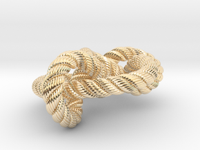 Miller institute knot (Rope with detail) in 14k Gold Plated Brass: Medium