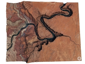 Horseshoe Bend Map, Arizona in Glossy Full Color Sandstone