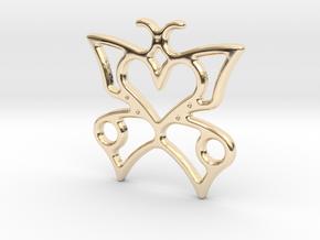 butterfly heart in 14k Gold Plated Brass