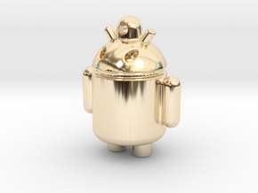 android robot in 14k Gold Plated Brass