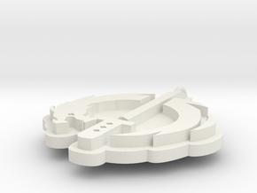 Overwatch Gengi Logo in White Natural Versatile Plastic