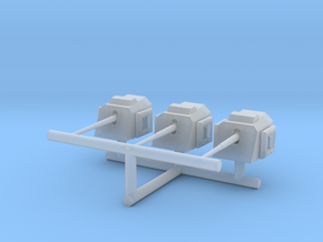 1/600 DKM 15cm/55 (5.9in) TBts K C/36 1-600 SET in Smooth Fine Detail Plastic