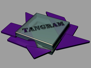 tangram (zur reise) in White Strong & Flexible Polished