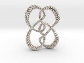Symmetrical knot (Rope) in Platinum: Extra Small