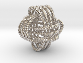 Monkey's fist knot (Rope) in Platinum: Extra Small