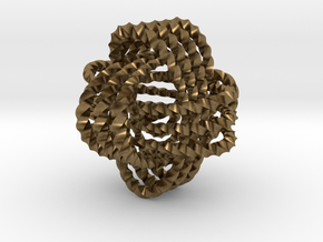 Monkey's fist knot (Twisted square) in Natural Bronze: Extra Small