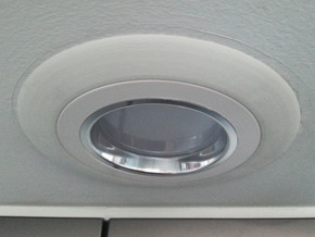 "Recessed Lighting Trim 4"" to 6"" Adapter in White Strong & Flexible"