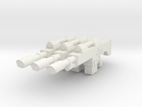 1/12 scale Laser rifle in White Strong & Flexible