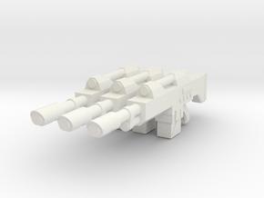 1/12 scale Laser rifle in White Natural Versatile Plastic