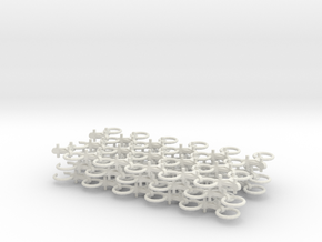 Chain Harrow 1/32 - Chains in White Natural Versatile Plastic