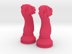 Pair Chess Camel Big / Timur Jamal  in Pink Processed Versatile Plastic