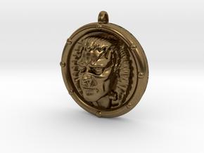 Frankenstein's Monster 3D Pendant in Natural Bronze