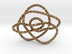 Ochiai unknot (Twisted square) in Natural Brass: Extra Small