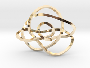 Ochiai unknot (Square) in 14K Yellow Gold: Extra Small