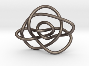 Ochiai unknot (Circle) in Polished Bronzed Silver Steel: Extra Small