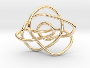 Ochiai unknot (Circle) in 14K Yellow Gold: Extra Small