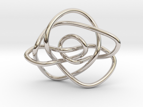 Ochiai unknot (Circle) in Rhodium Plated Brass: Extra Small
