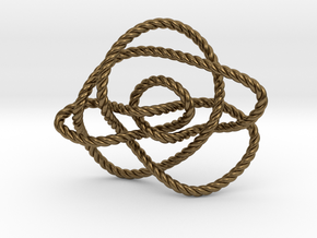 Ochiai unknot (Rope) in Natural Bronze: Extra Small