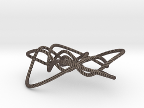 Ochiai unknot (Rope with detail) in Polished Bronzed Silver Steel: Small