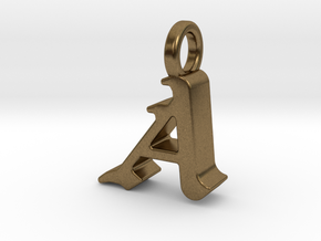 A - Pendant - 3 mm thk. in Natural Bronze