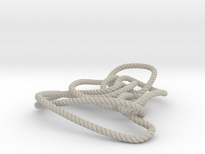 Thistlethwaite unknot (Rope with detail) in Natural Sandstone: Medium