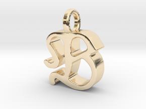 B - Pendant - 3 mm thk. in 14K Yellow Gold