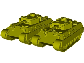 1/100 scale WWII PzKpfw V SdKfz 171 Panther x 2 in Smooth Fine Detail Plastic