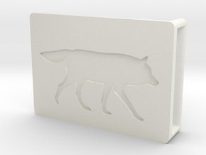 Belt Buckle - Wolf - M1SF in White Natural Versatile Plastic