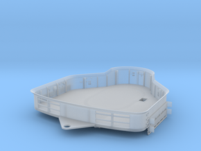 1/200 Bismarck Bridge for Foretop Deck in Smooth Fine Detail Plastic