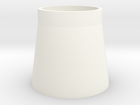 Refined Shot Glass in White Processed Versatile Plastic