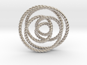 Rose knot 2/5 (Rope) in Platinum: Extra Small