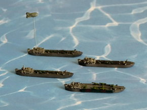 LST-906 & 3 x LST 542 Type LST 1/1800 in Smooth Fine Detail Plastic