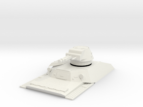 PV190 T-40 - Waterline (1/48) in White Natural Versatile Plastic