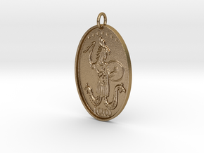 Abraxas Pendant in Polished Gold Steel