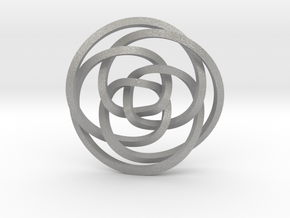 Rose knot 3/5 (Square) in Aluminum: Extra Small