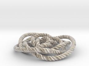 Rose knot 3/5 (Rope with detail) in Platinum: Medium