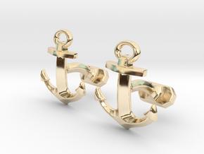 Anchor Cufflinks in 14k Gold Plated Brass