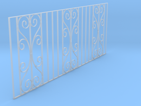 Dolls House Cast Iron Fence in Smooth Fine Detail Plastic