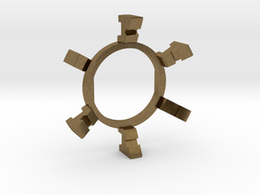 "HILT GX12/MT30 Connector Holder 7/8"" Gate Ring in Natural Bronze"