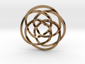Rose knot 4/5 (Square) in Natural Brass: Extra Small