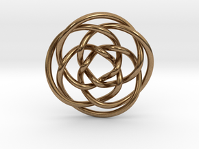 Rose knot 4/5 (Circle) in Natural Brass: Extra Small