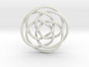 Rose knot 4/5 (Rope) in White Strong & Flexible: Extra Small