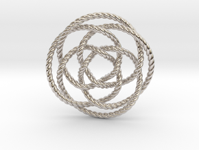 Rose knot 4/5 (Rope) in Platinum: Extra Small