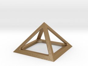 Pyramid of Cheops in Matte Gold Steel